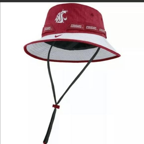 NWT Mens Nike Dri-Fit WSU Cougars Bucket Hat Sz XL